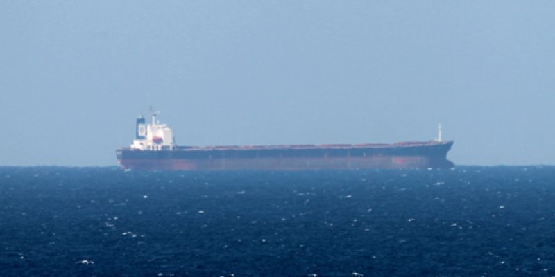 epa03078191 (FILE) A file picture dated 15 January 2012 shows an Oil tanker in the Strait of Hormuz from Khasab, Oman on 15 January 2012. Reports state on 25 January 2012 that the International Monetary Fund (IMF) has warned of a 20-30 per cent oil price rise if Iranian exports are disrupted due to financial sanctions on Iran imposed by the West. EPA/ALI HAIDER