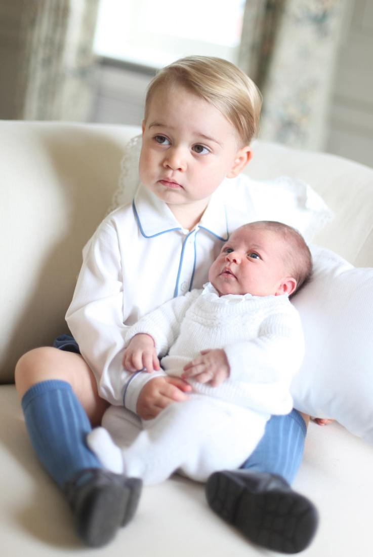 Official photo released June 6th 2015 by The Duke and Duchess of Cambridge of Prince George and baby, Princess Charlotte. The photograph was taken by the Duchess in mid-May at Anmer Hall in Norfolk. EDITORIAL USE ONLY. NO COMMERCIAL USE