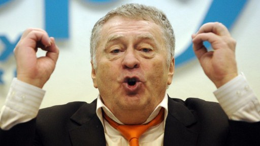 Liberal Democratic Party leader, one of the  presidential candidates,  Vladimir Zhirinovsky speaks during his press conference in Moscow, on January 16, 2012.  The presidential voting in Russia is scheduled on March 4, 2012. AFP PHOTO / NATALIA KOLESNIKOVA