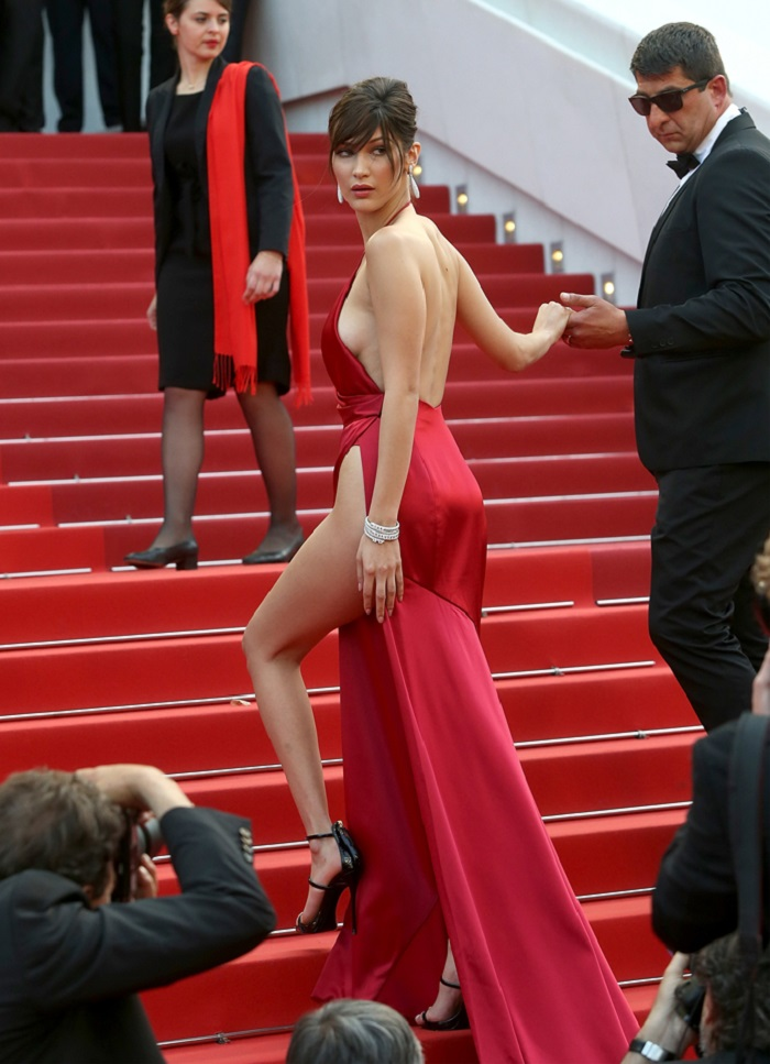 CANNES, FRANCE - MAY 18:  Bella Hadid attends the