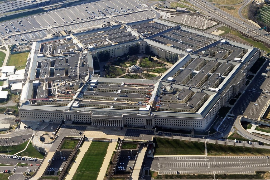 (FILES) This December 26, 2011 file photo shows the Pentagon building in Washington, DC. Despite heated campaign rhetoric, US President Barack Obama and Republican rival Mitt Romney mostly share common ground on national security issues but they are sharply at odds over the defense budget.     AFP PHOTO/FILESSTAFF/AFP/Getty Images