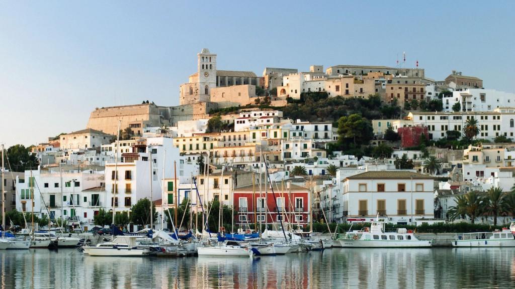 Ibiza in the morning. Balearic Islands. Spain