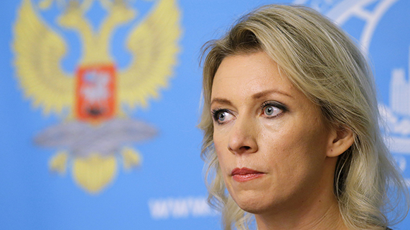 Spokeswoman of the Russian Foreign Ministry Maria Zakharova attends a news briefing in Moscow, Russia, October 6, 2015. Russia strongly rebuffed U.S. criticism of its air strikes in Syria on Tuesday, reminding Washington how it had supported the United States in the aftermath of the 9/11 attacks on New York in 2001. REUTERS/Maxim Shemetov