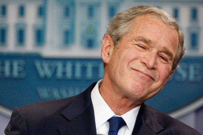 WASHINGTON - JANUARY 12:  U.S. President George W. Bush holds a news conference in the Brady Press Briefing Room at the White House January 12, 2009 in Washington, DC. Bush spent nearly an hour fielding questions during his last news conference as president of the United States before President-elect Barack Obama is sworn in on January 20.  (Photo by Chip Somodevilla/Getty Images) *** Local Caption *** George W. Bush