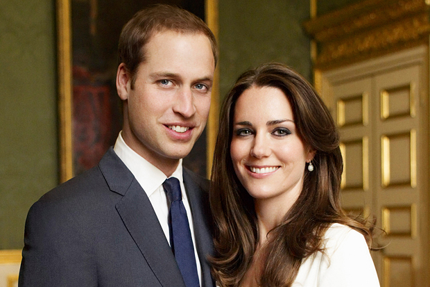 LONDON - NOVEMBER 25: (NO SALES/EDITORIAL USE ONLY) In this handout photo, one of two official portrait photographs, Prince William and Miss Catherine Middleton have chosen to release to mark their engagement, released by Clarence House Press Office on December 12, 2010, Prince William and Miss Catherine Middleton pose in the Council Chamber in the State Apartment in St James's Palace on November 25, 2010 in London, England. (Mandatory Credit/Photo by Mario Testino/Clarence House Press Office via Getty Images)These photographs are for editorial use only and are not approved photographs for souvenirs and memorabilia. The photographs should be accompanied by a caption explaining that the photographs were taken as the official portrait photographs for the engagement of Prince William and Miss Catherine Middleton. Mario Testino must be credited as the photographer (Copyright 2010 Mario Testino). The photographs must not be digitally enhanced, manipulated or modified, and must include Prince William and Miss Catherine Middleton when published. There is no charge for the supply, release or publication of these official photographs for editorial use. Any use outside these terms must be cleared by the Clarence House Press Office.