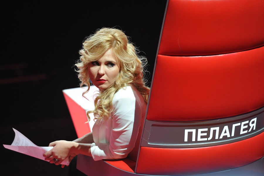 'The Voice Russia' TV show taping. In picture: singer Pelageya