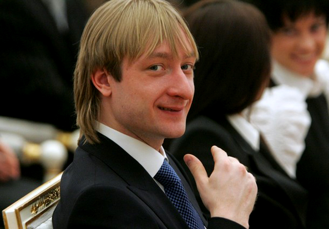 MOSCOW - MARCH 15: Silver medalist figure skater Evgeni Plushenko attends a ceremony at the Kremlin March 15, 2010 in Moscow, Russia. The ceremony was held to present state awards to Russian athletes who won medals at the Vancouver 2010 Winter Olympics.  (Photo by Sasha Mordovets/Getty Images)